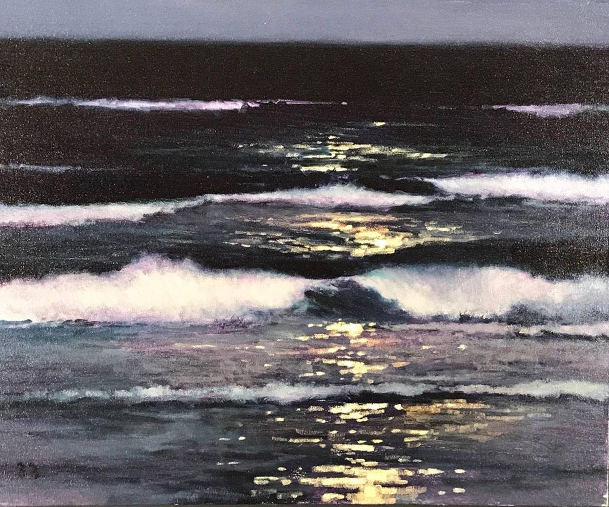 Blood Moonlit Surf