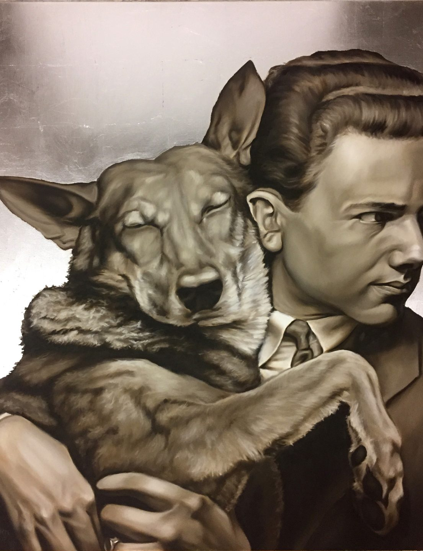 Morin Dog with Man