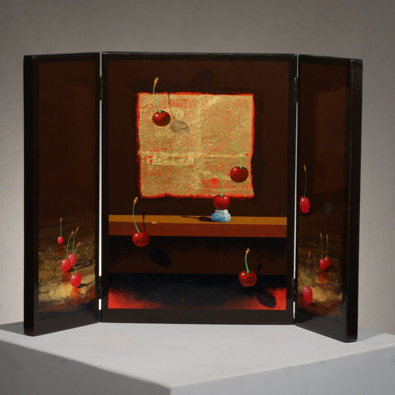 Moss Cherries Triptych I