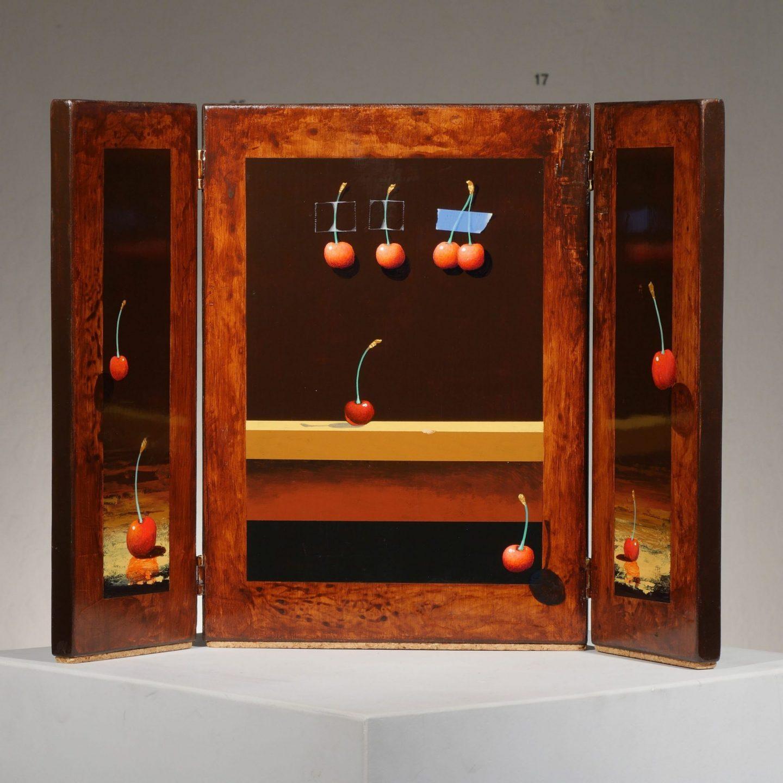 Moss Cherries Triptych II